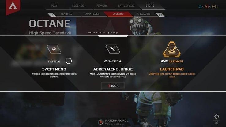Octane kit Apex Legends
