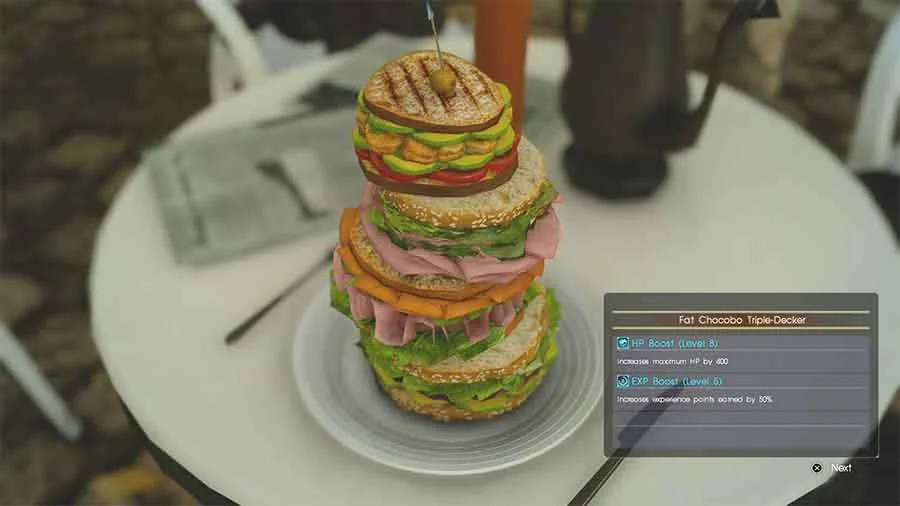 Final Fantasy XV Recipes Amp Foods That Boosts Experience