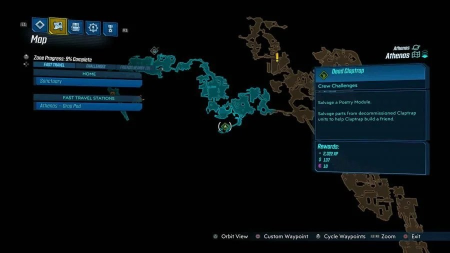 Athenas Dead Claptrap 1 900x506 - Borderlands 3 - Athenas, guida alle sfide