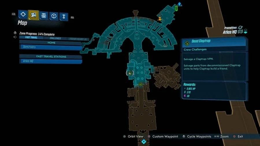 Atlas HQ Dead Claptrap 900x506 - Borderlands 3 - Atlas HQ, guida alle sfide