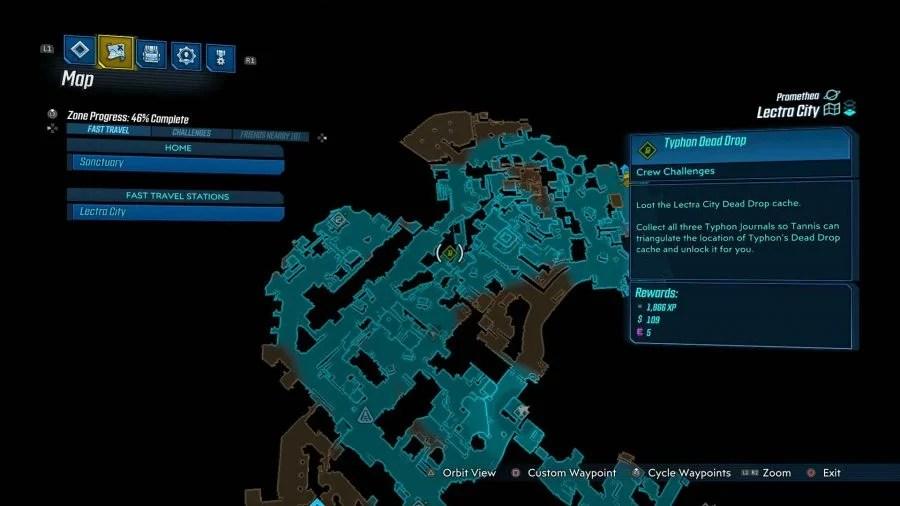 Lectra City Typhon Dead Drop 900x506 - Borderlands 3 - Lectra City, guida alle sfide