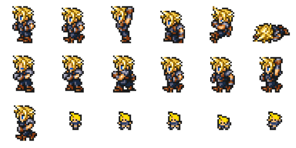 16-Bit Cloud Strife (FF Record Keeper)