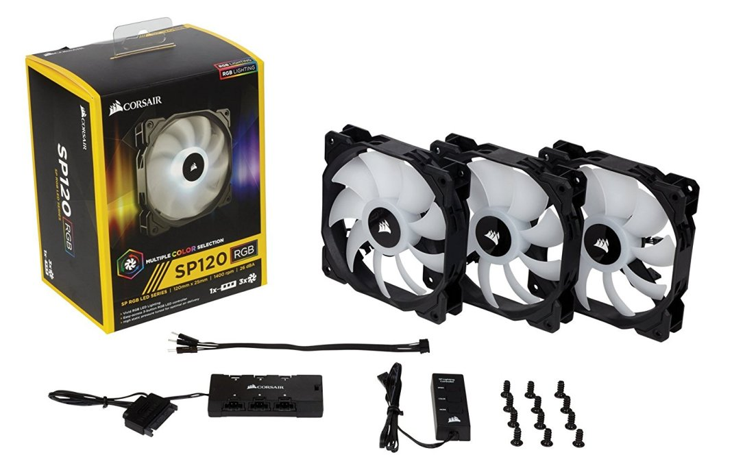 Corsair SP120 RGB LED Triple Fan Pack