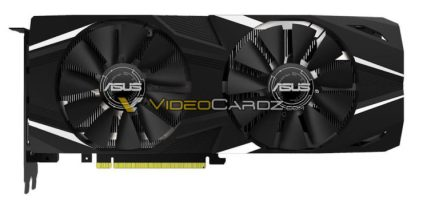 This image shows the ASUS GeForce RTX 2080 DUAL OC variant.