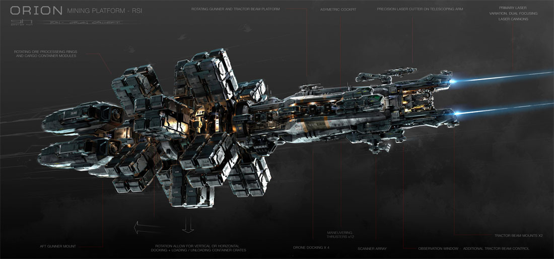 Star Citizen Showcases First Mining Ship The RSI Orion