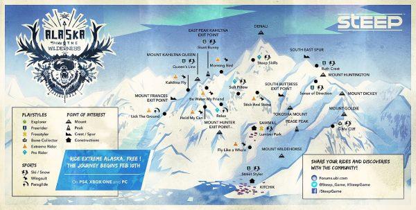 Nuevo contenido para actualización de Steep ahora en Alaska
