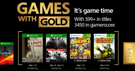 Games With Gold de Marzo 2017 anunciados GamersRD