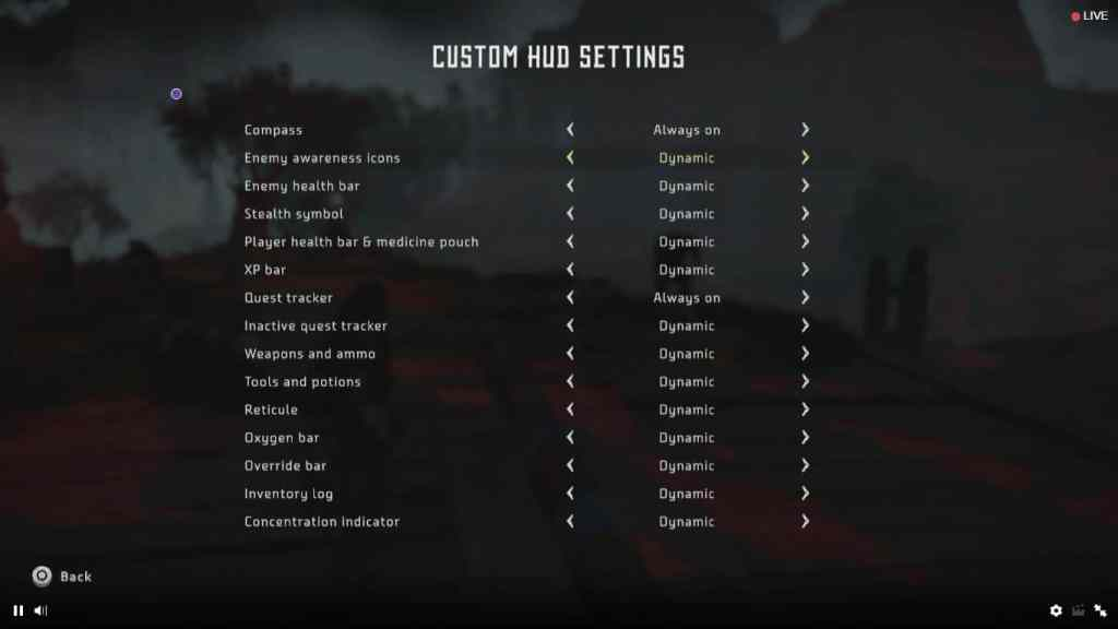 Mira las opciones personalizadas de Horizon Zero Dawn -GamersRD