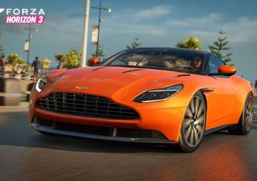 "Aston Martin DB11 in ""Forza Horizon 3."""