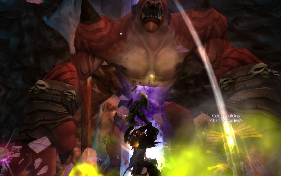Fighting together against Gruul in World of Warcraft many years ago.