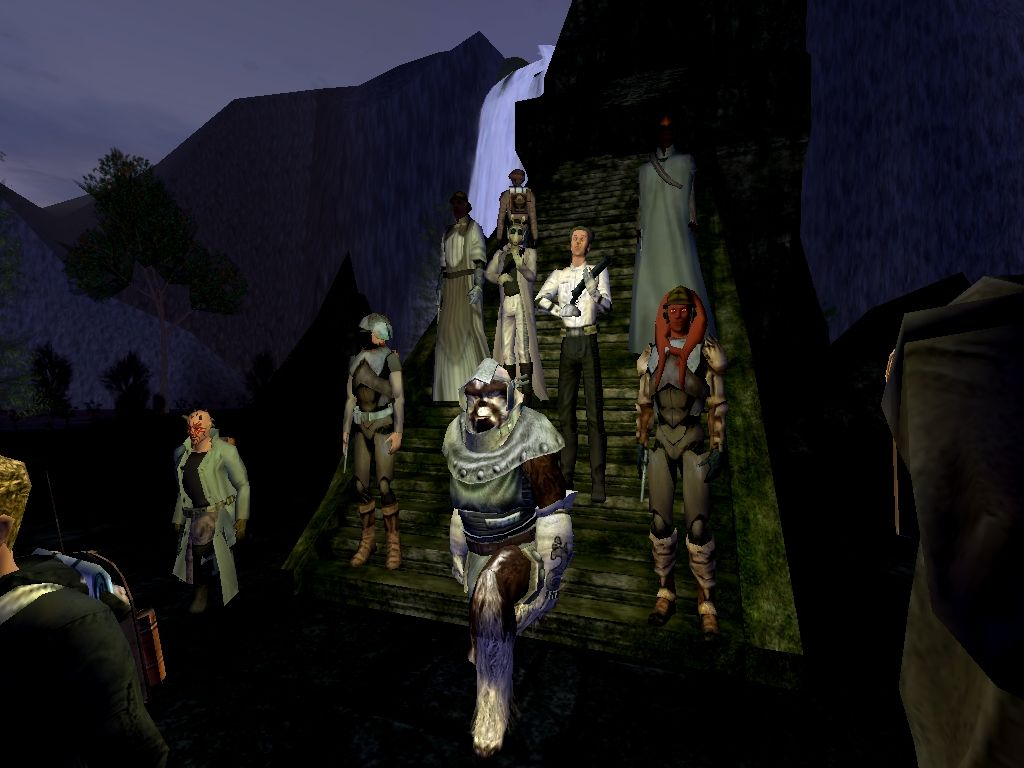 Moosacca leads the group through the Jedi Ruins.