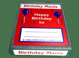 Birthday Mania Rare Video Game