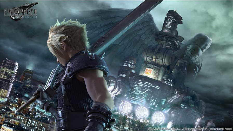 Final Fantasy 7 Remake for ps4. Video game is the remastered version of Final Fantasy VII. Video games remastered