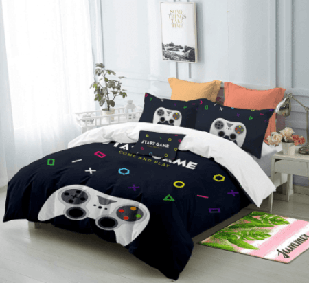 gamer girl gaming bed set