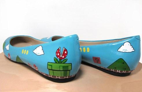chaussures-mario Geek: Des talons hauts pour geekettes