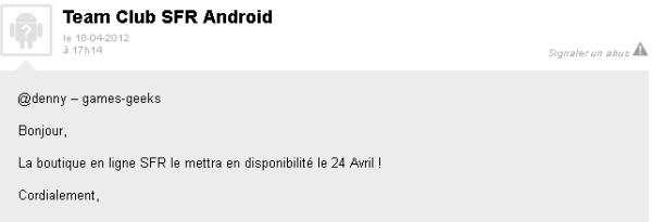 screenshot.603 SFR: Le HTC One S sera dispo dès le 24 avril