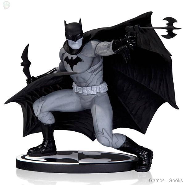 Batman-Black-and-White-by-Francis-Manpul-Statue Figurines du Joker et Batman