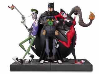 Batman-Joker-and-Harley-Bookend-Statue-1 Nouvelle sélection de figurines Harley Quinn