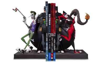 Batman-Joker-and-Harley-Bookend-Statue Nouvelle sélection de figurines Harley Quinn