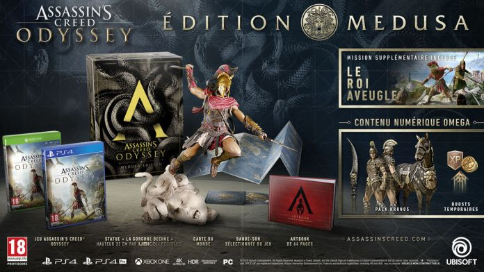 aco-edition-medusa Assassin's Creed Odissey - Les éditions spéciales et collector