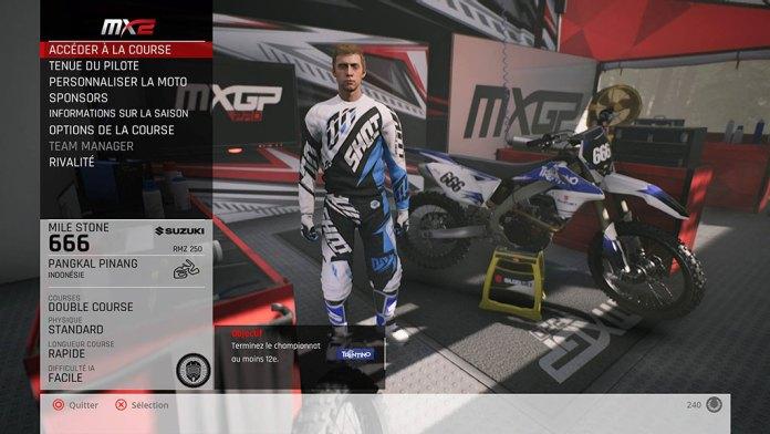 MXGP_MenuCarriere-1024x576 Mon avis sur MXGP Pro - La boue, ça colle mais c'est fun !