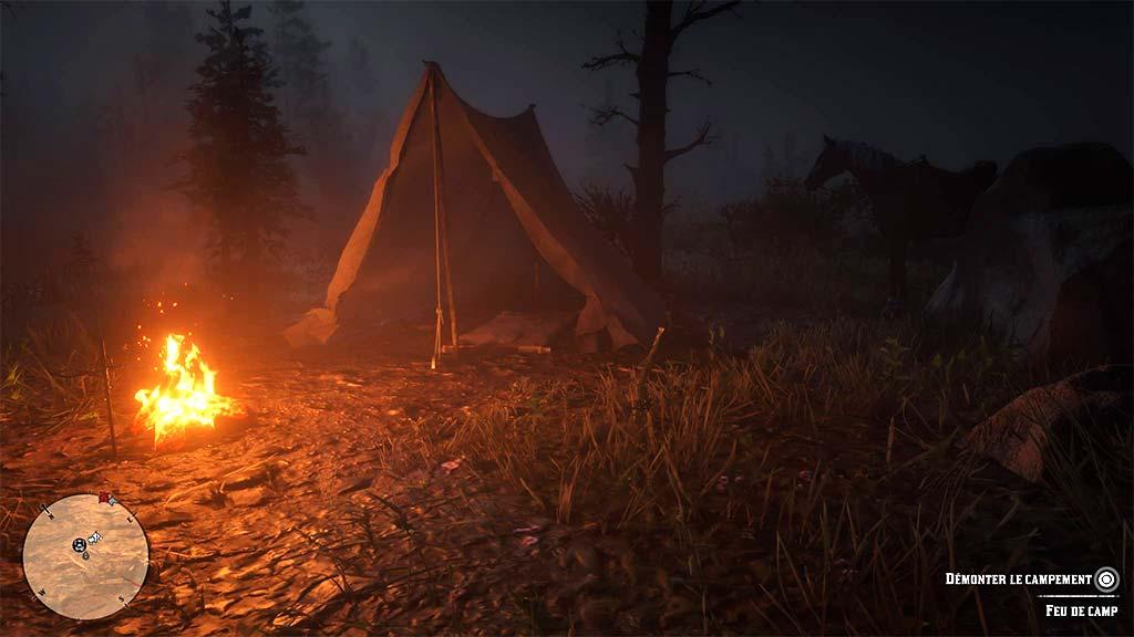 feu_camp_demonter Mon avis sur Red Dead Redemption II - Paré pour la grande épopée ?