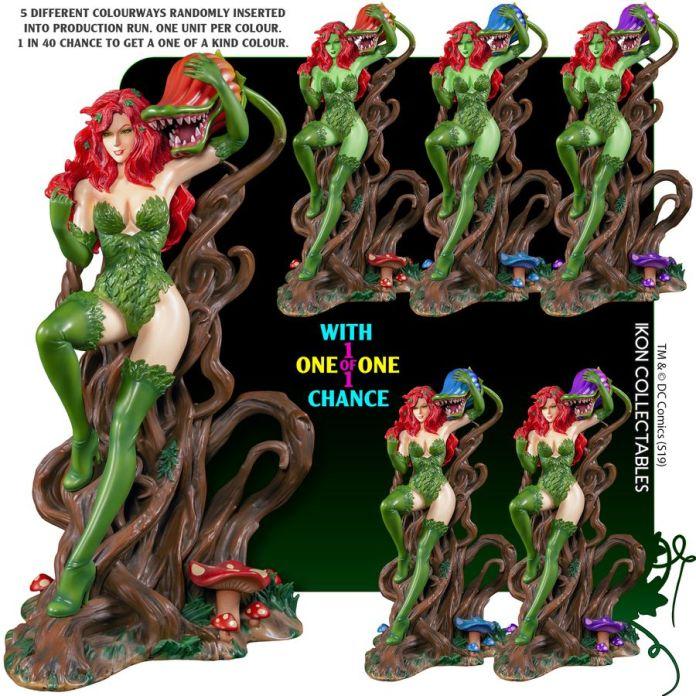 IKO1049-Poison-Ivy-Statue-9-1of1 Figurine - Poison Ivy et la fleur tueuse