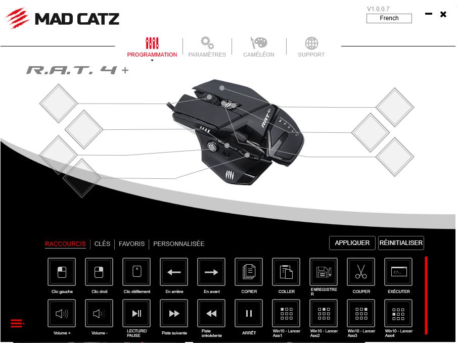 image Présentation de la souris gaming R.A.T 4+ de Madcatz