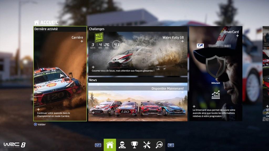 menu_accueil-1024x576 Mon avis sur WRC 8 – Le challenger est là !