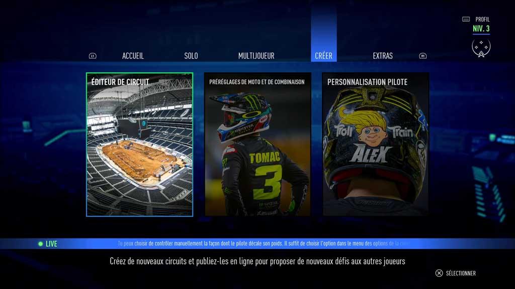 editeur_circuitI Mon avis sur Monster Energy Supercross 3 - Attention à la chute !