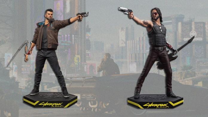 figurine-cyberpunk-2077 Cyberpunk 2077 - Casques - Disques dur - Figurines etc