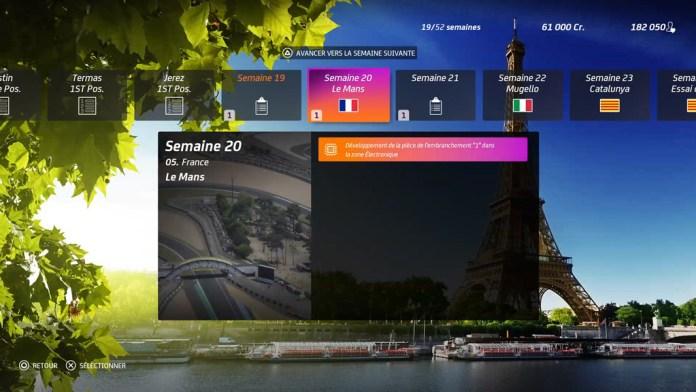 Menu_Carrirere_Planing_MotoGP20 Mon avis sur Moto GP20 - Wheeling power !