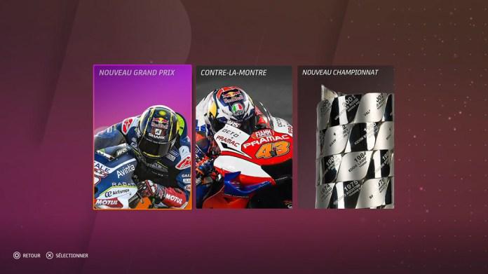 Menu_Solo_MotoGP20 Mon avis sur Moto GP20 - Wheeling power !