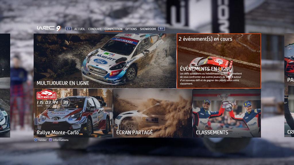 WRC9_menu_accueil3 Mon avis sur WRC 9 - Long droit sur ciel