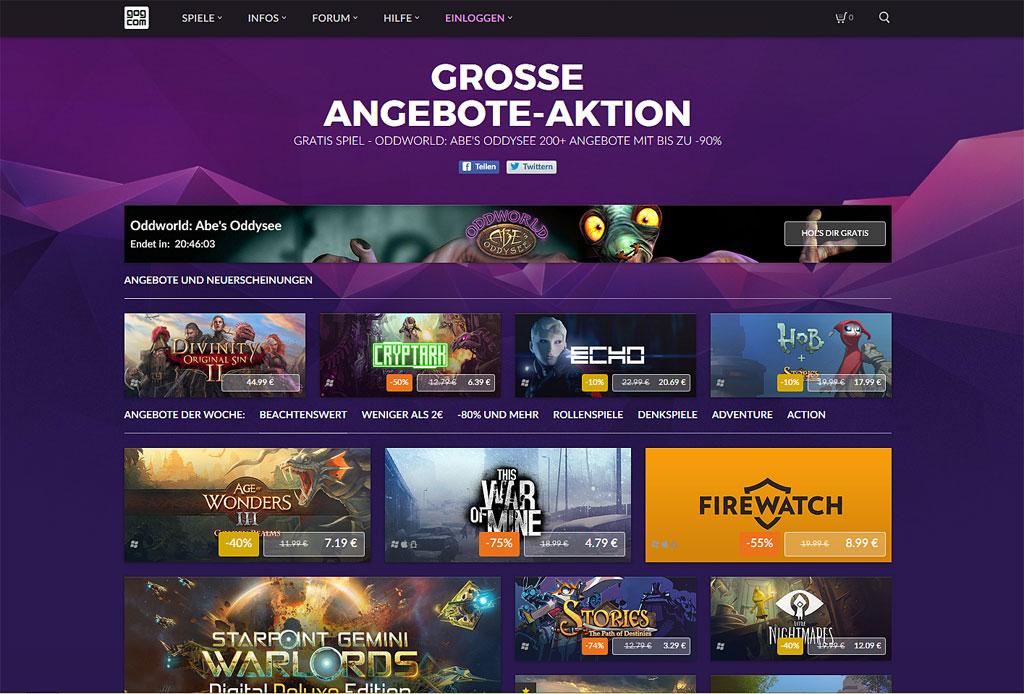 GOG.com startet Angebote-Aktion