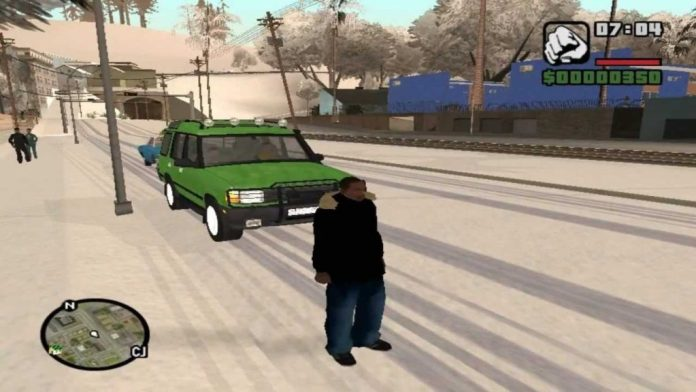 GTA San Andreas Snow Compressed PC Game Free Download
