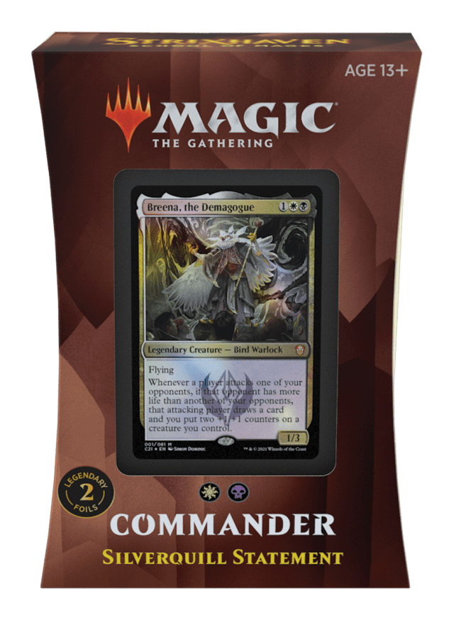 Magic The Gathering Commander Deck 2021 Silverquill Statement