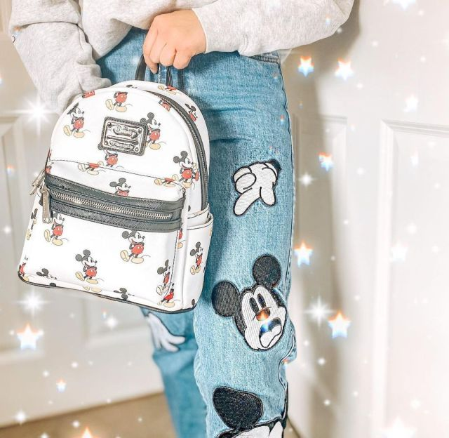 Loungefly Disney zainetto Mickey Mouse Zip Vintage