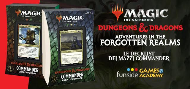 Magic The Gathering Dungeons & Dragons Avventure nei Forgotten Realms – Decklist Commander Banner