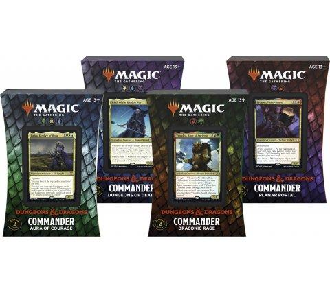 Magic The Gathering Dungeons & Dragons Avventure nei Forgotten Realms i mazzi Commander