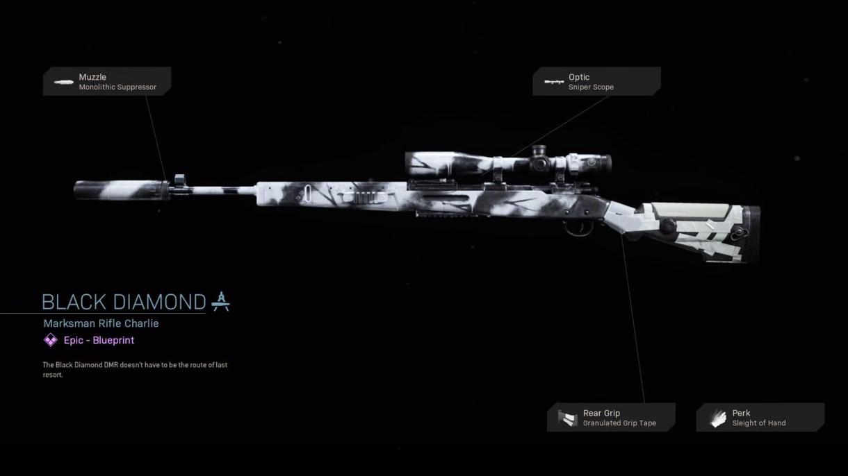 Black Diamond - COD Warzone Weapons - Epic Blueprint - Call of ...