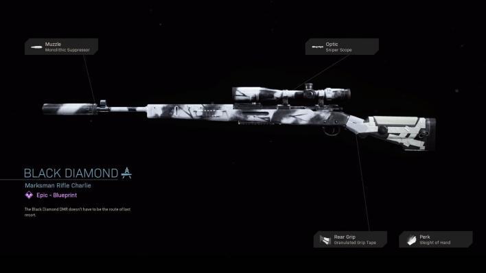 Black Diamond - COD Warzone Weapons - Epic Blueprint - Call of ...