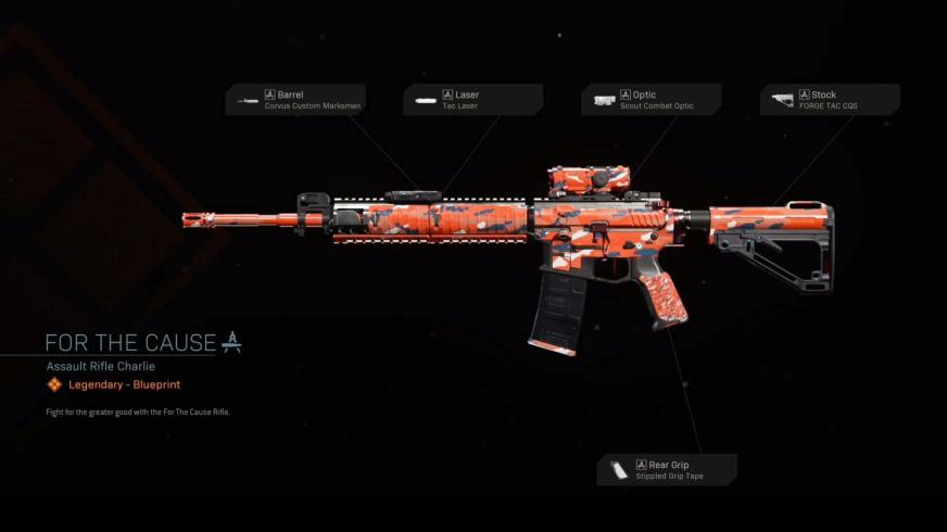 For The Cause - COD Warzone Legendary Weapon Blueprint ...