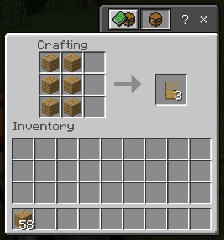 Minecraft Door Recipes