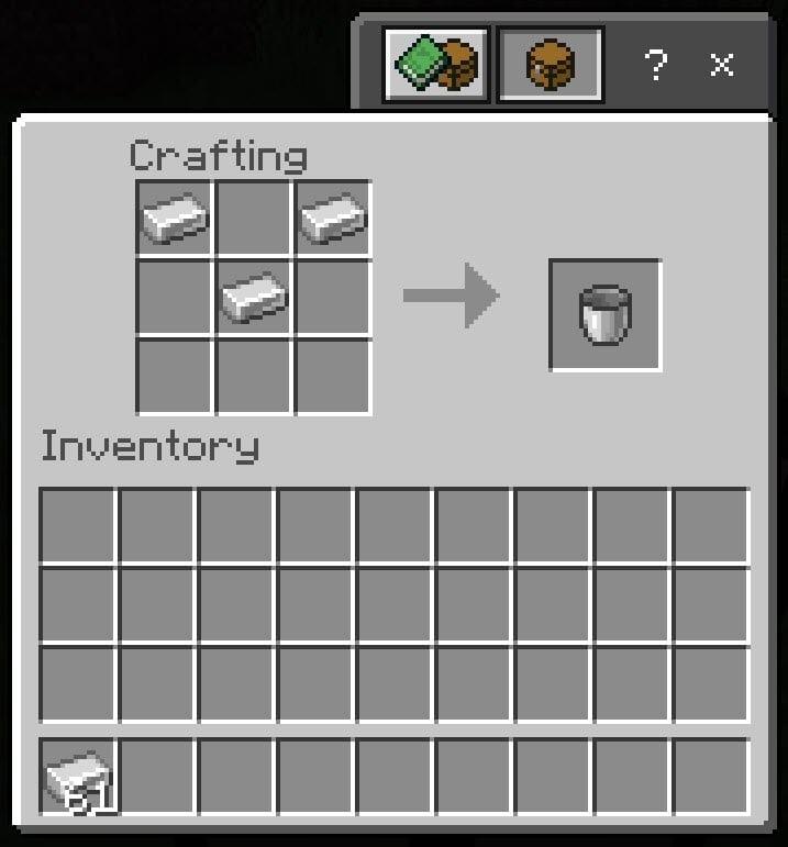 Make Bucket in Minecraft