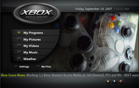 XBMC – Dashboard Alternativa do Xbox