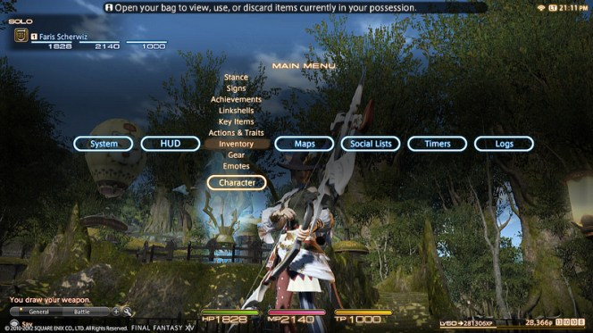 Final Fantasy XIV: A Realm Reborn - Interfaz personalizable