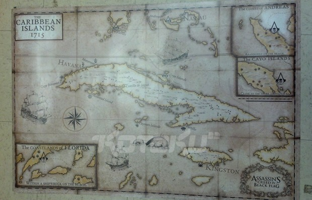 Assassins Creed IV Black Flag Mapa