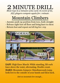 2 Minute Drill Mountain Climbers