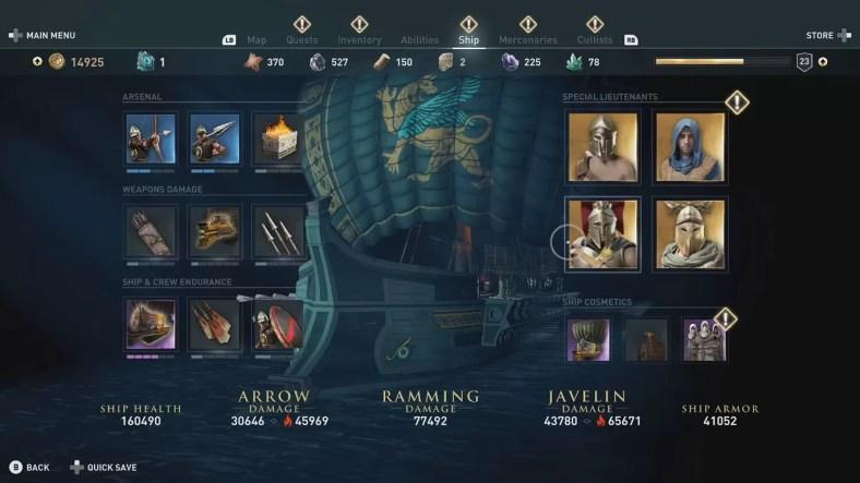 Assassin's Creed Odyssey Legendary Ship Lieutenants Guide